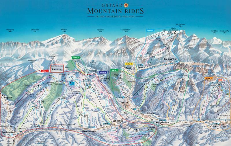 Gstaad/Zweisimmen piste map