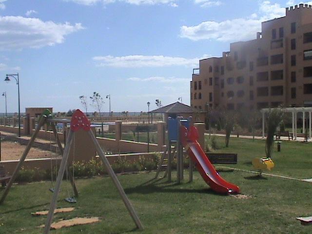 Zona de jardines de juegos infantiles