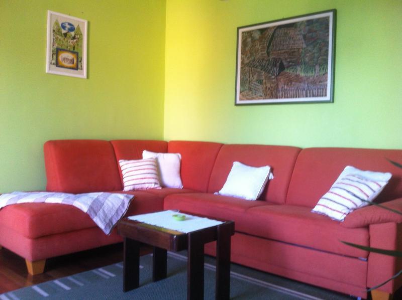 Rymliga och soliga vardagsrummet