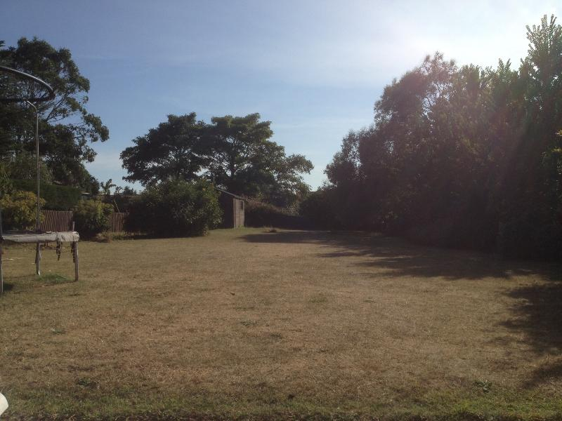 The garden - great for a bit of football or cricket