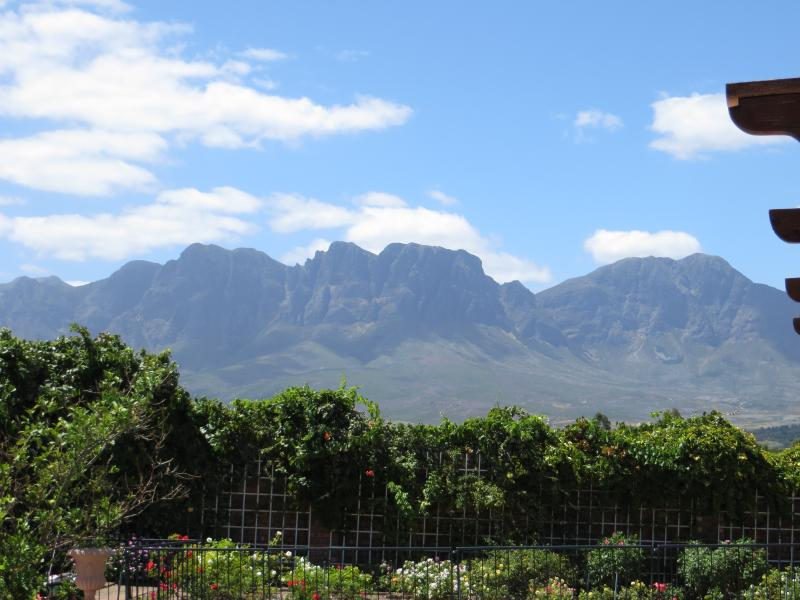 View of Hottentots Holland mountain range from property