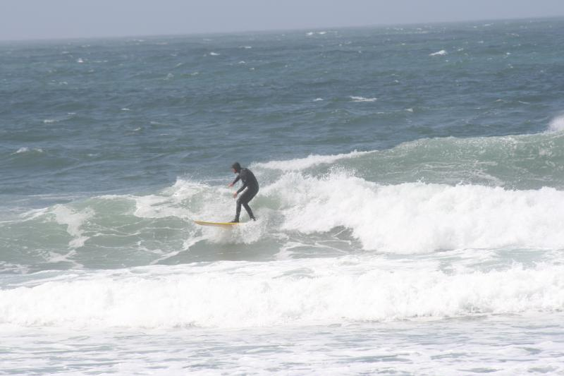 Surfing on the Blue Flag beach of Whitesands