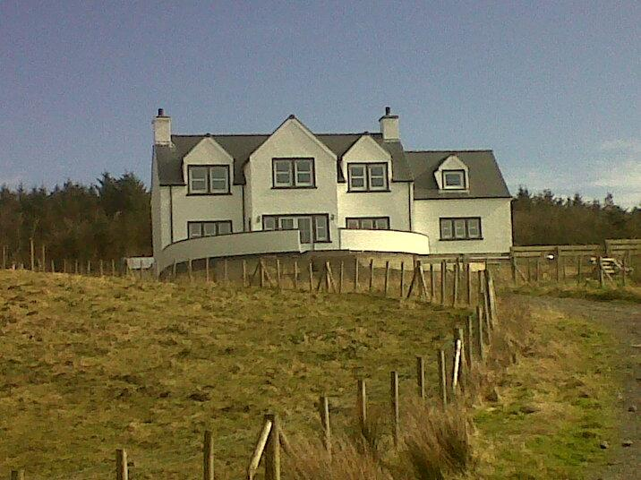 Knockinaam House set in 3 acres of ground, with woodland to the rear