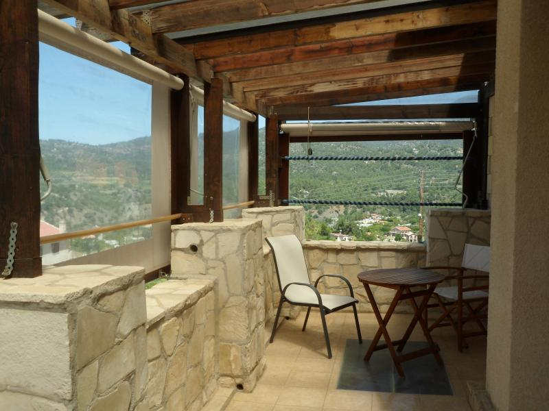 Large veranda with stunning views by day and night