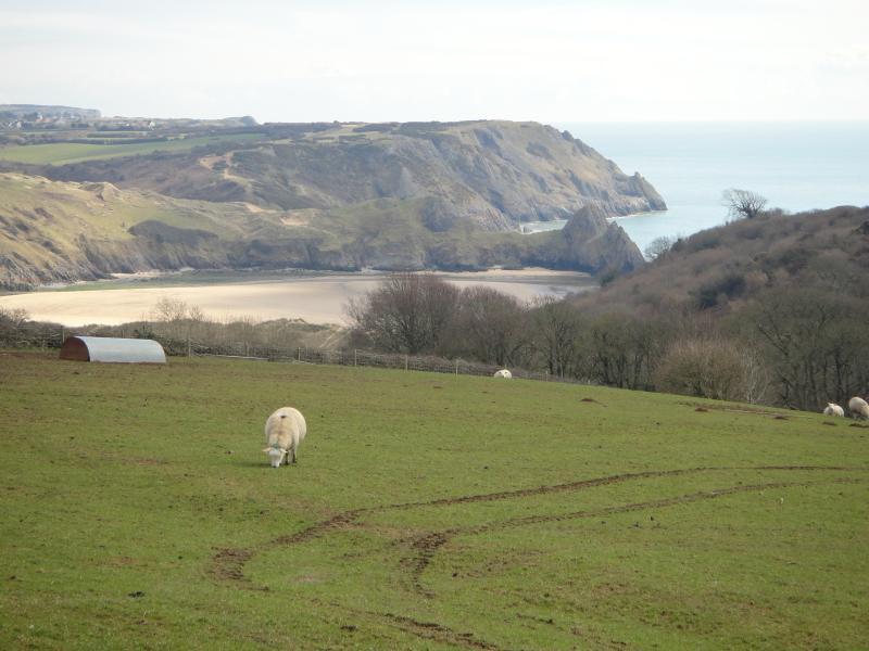 Blick in Three Cliffs Bay