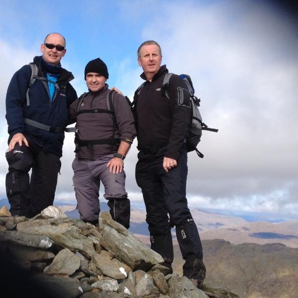 Climbing the Scottish Mountains.