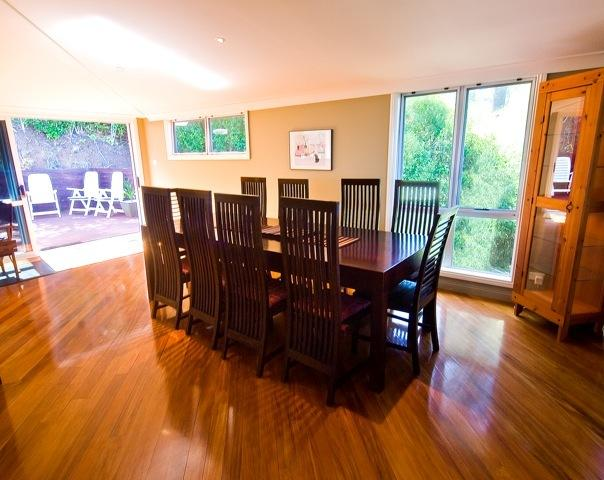 Dining for at least 10 Guests, plus extra dining areas.