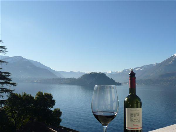 Relax with a glass of Italian wine and enjoy the views from Primo del Lago
