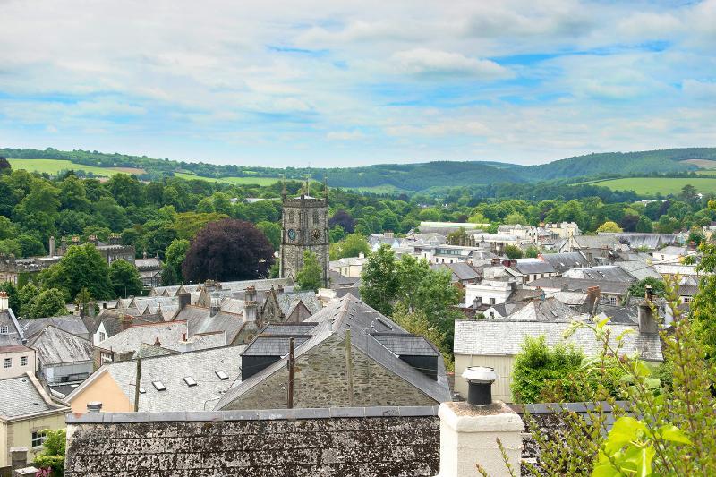 Vistas desde el jardín en Tavistock