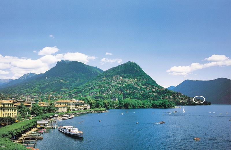 Lugano with view to  Mount Brè with the Barony