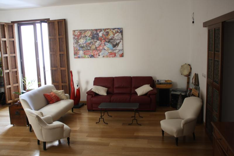 large living room (50mq) with comfortable sofà bed