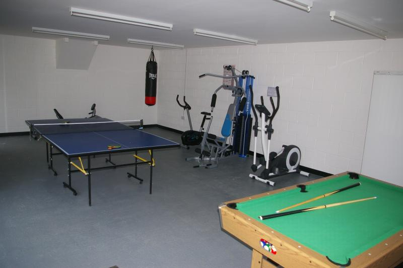 The Games Room Features Fitness Machines, Table Tennis, Pool and Darts