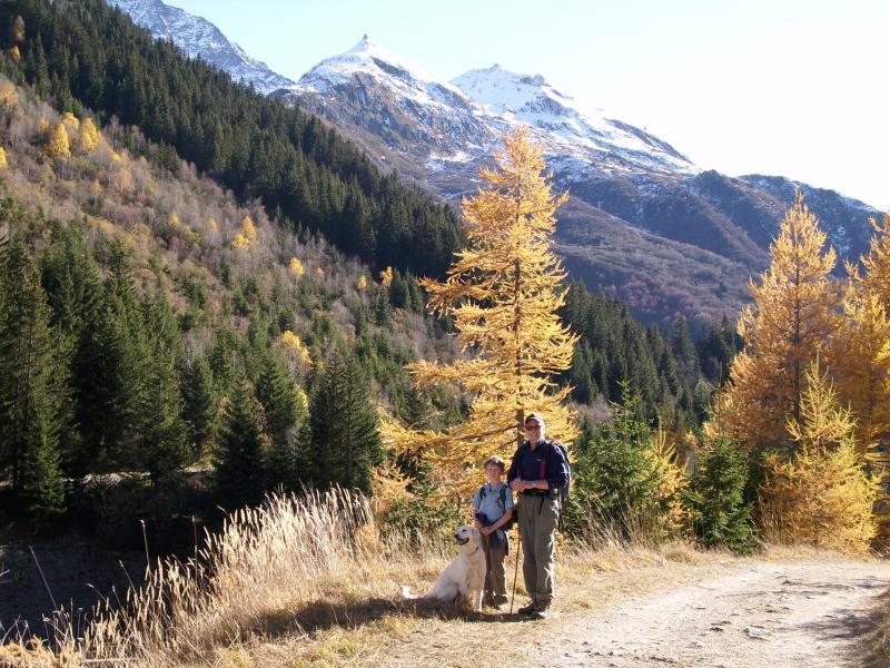 Colores otoñales.  Senderismo en el valle de Peclet-Polset.