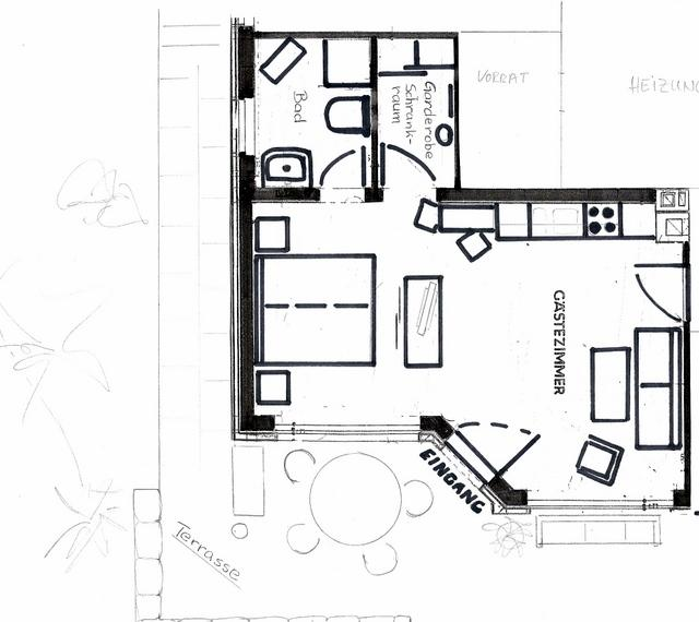 ground plan of the holiday apartment