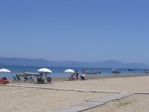 Beach about 4 minutes walk away