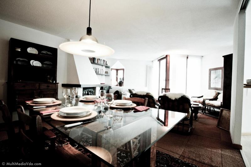 The dining room table at home