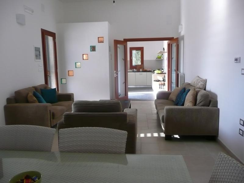 View from lounge to Kitchen
