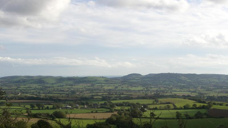 Marshwood Vale, towards the World Heritage Coast,photographed a short distance from the cottage