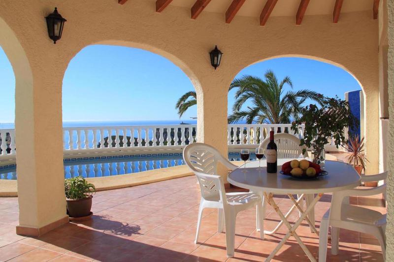 Terrace & Pool overlooking the Mediterranean