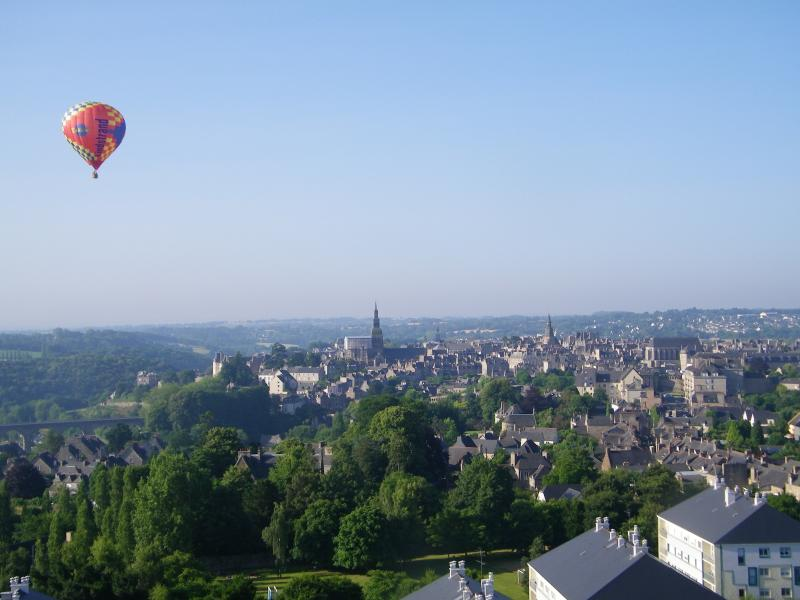 A view of Dinan, from the hot air balloon