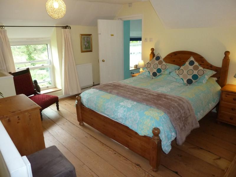 Bedroom 2, King size bed, high quality mattress. TV and DVD player