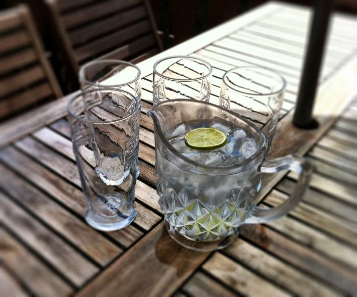 Relax on the deck with a cool drink and plan your Snowdonia adventure