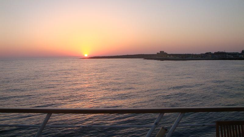 Sunset over Paphos Fort