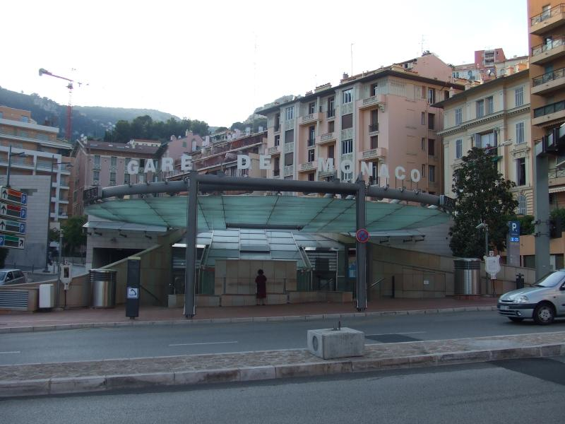 Monaco train station - Beausoleil entrance / exit
