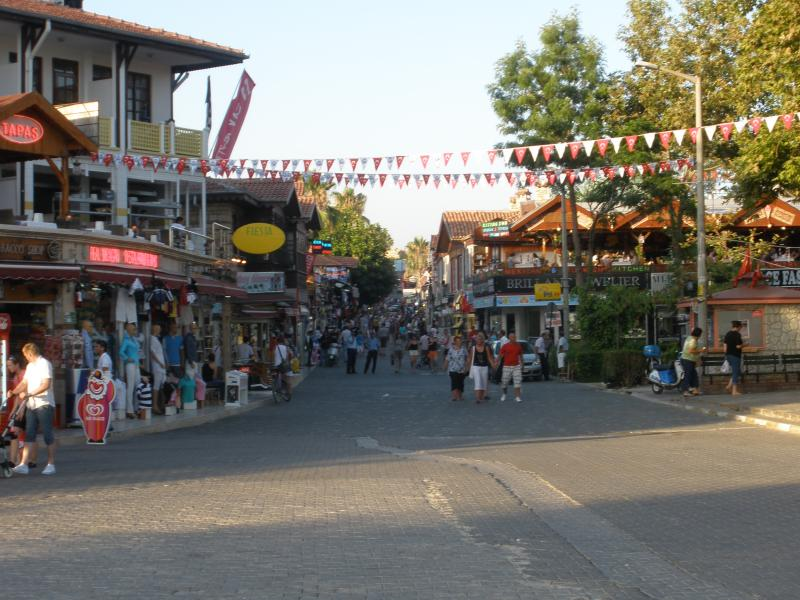 Bars and shops in Old Side Town