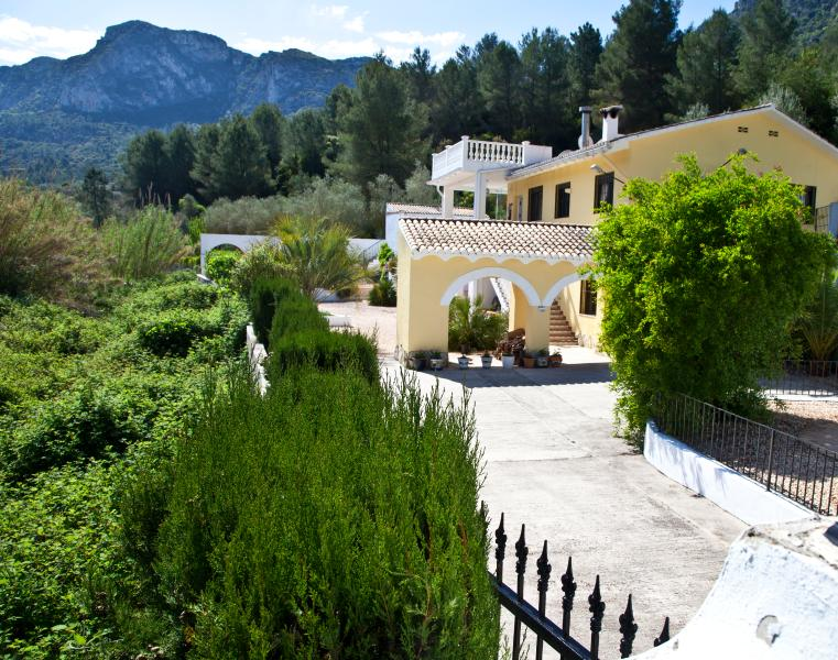 Casa Amarilla entrance - just a few minutes walk to the village