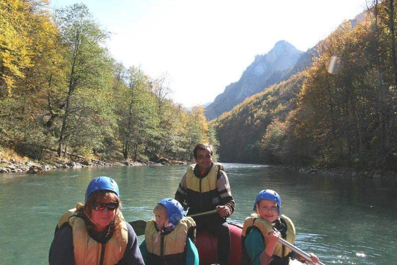 Enjoy rafting in the Tara Canyon, just 20 mins drive away