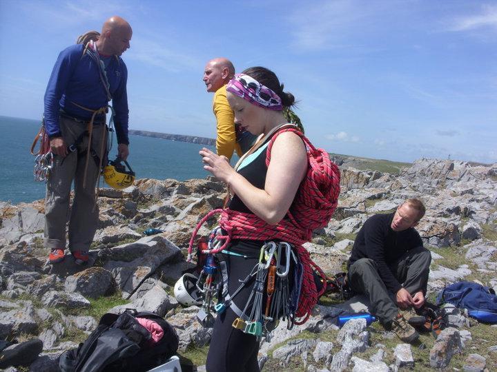 Rock climbing at Range West