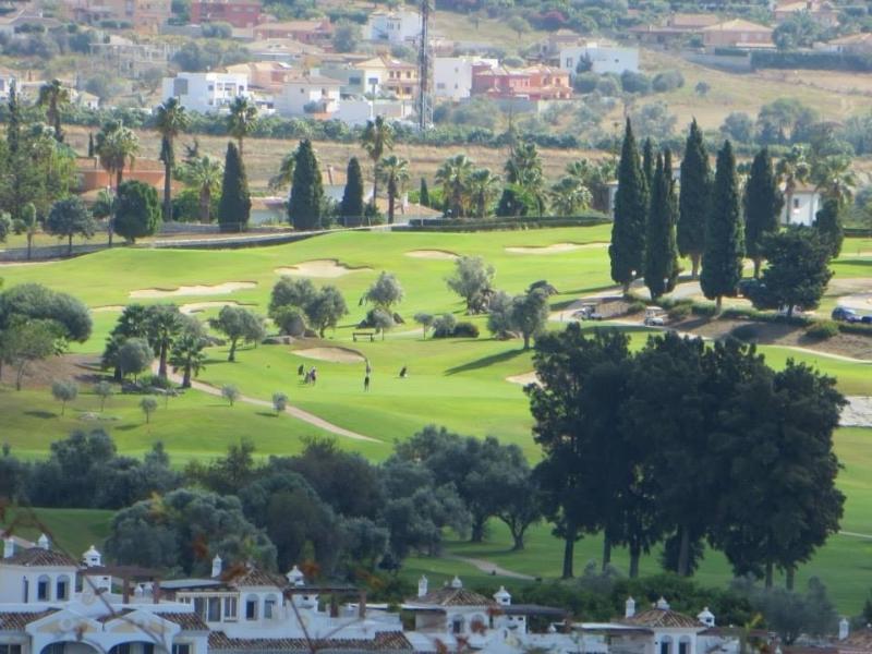 Uitzicht op golfbaan vanaf terras