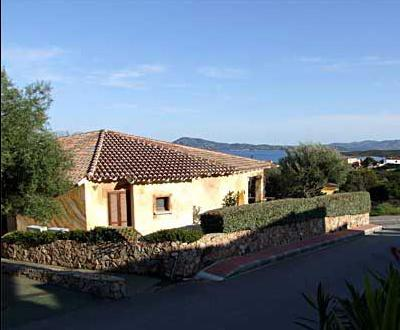 The very front villa in a luxury development with stunning views over the sea and Tavolara