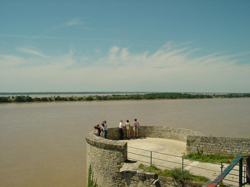Blaye citadel - views over estuary & surrounded by vineyards