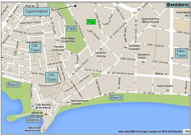 Location of flat