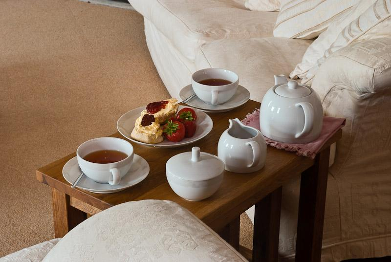Un thé de Devon crème vous attend à votre arrivée.