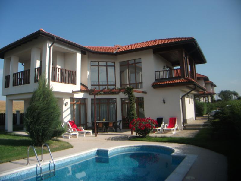 Fabulous Villa with private pool and large patio area .