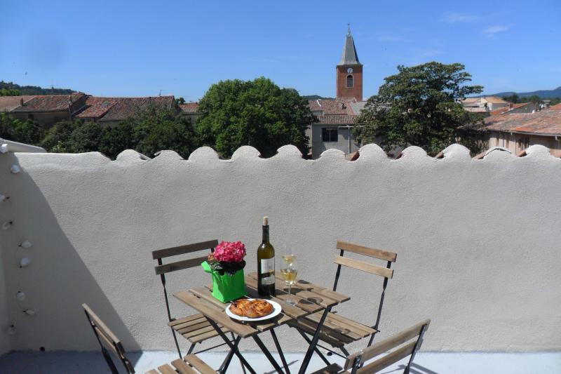 enjoy a glass of local wine on the terrace
