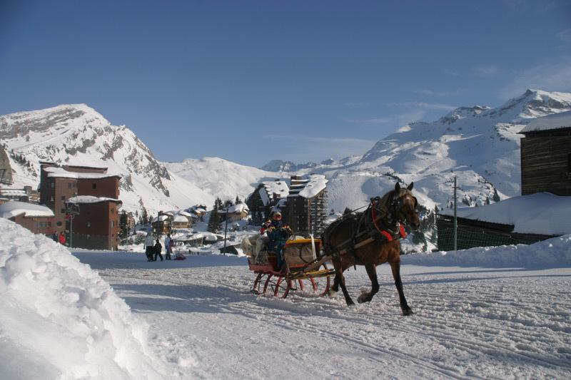 The only car-free ski resort in France