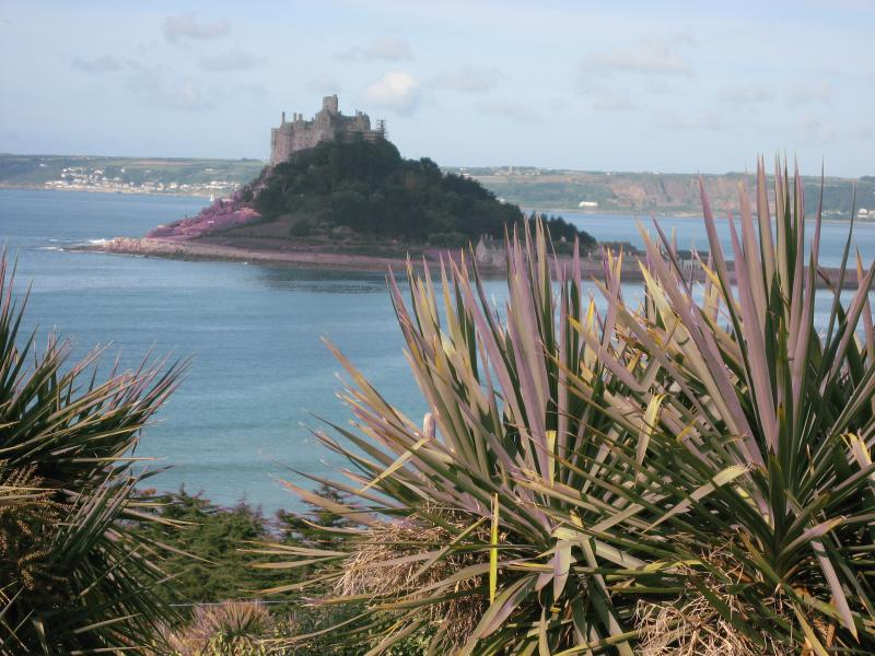 World famous St Michael's Mount , just 10 minutes away, can be seen from the tennis courts