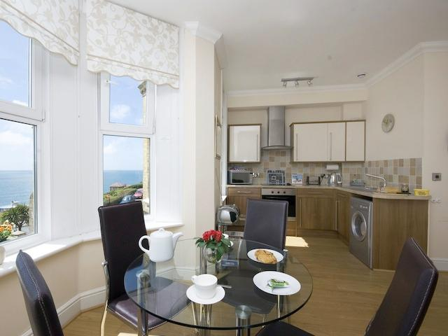 Dining area, with lovely seaviews