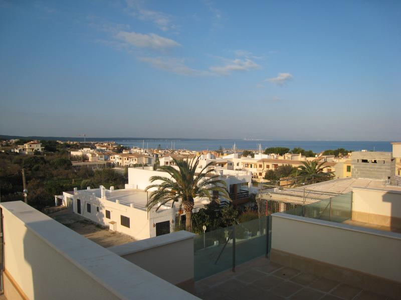 Views across the bay and village from the roof terrace