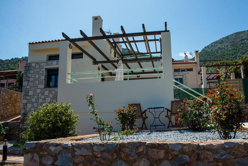 O exterior da villa