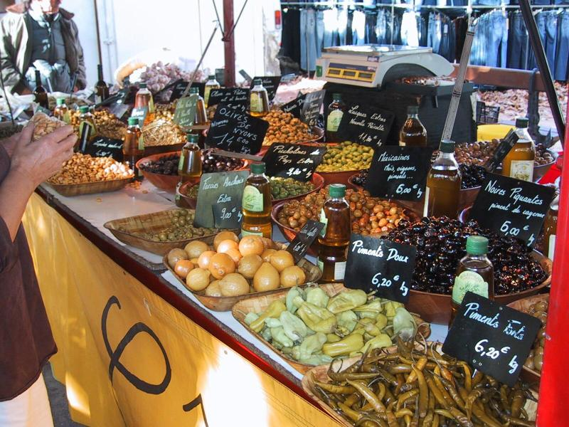 Markets with local produce
