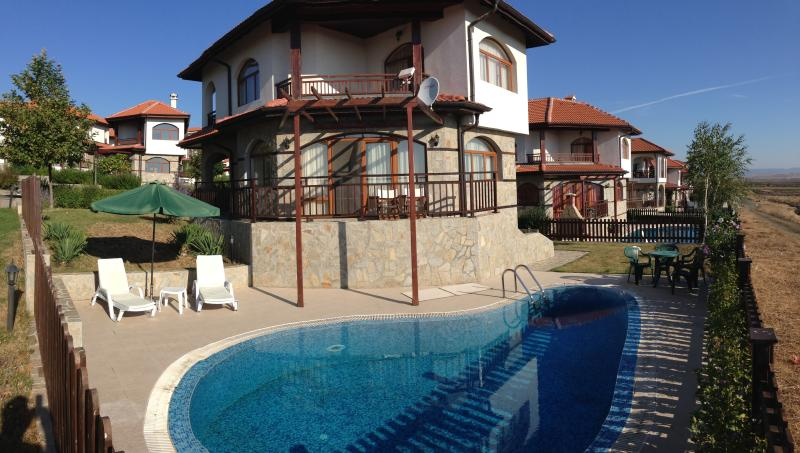 The Villa and Pool Area