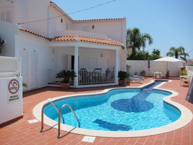 Exterior of villa showing pool area