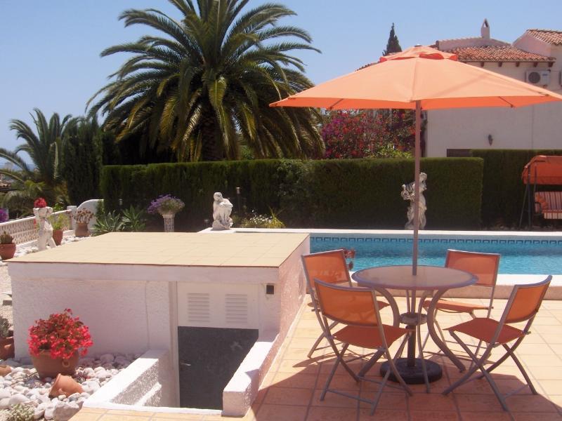 Área de terraço, piscina