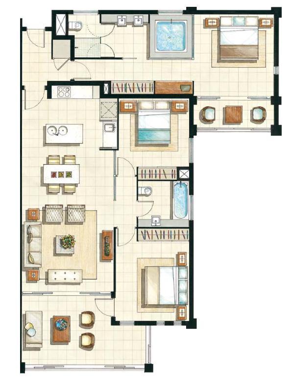 Floor Plan of units 141/142