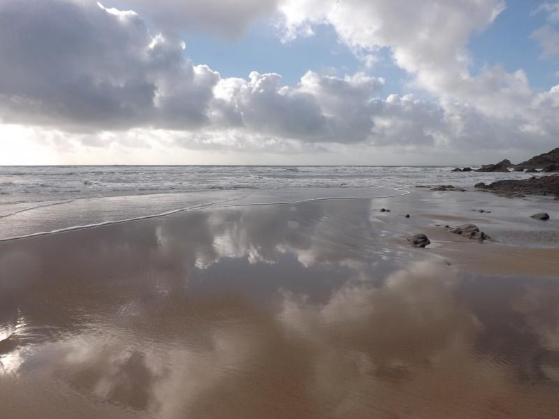 Exhilarating beach walks within ten minutes drive from Bishops Quay, the skies and light are great.